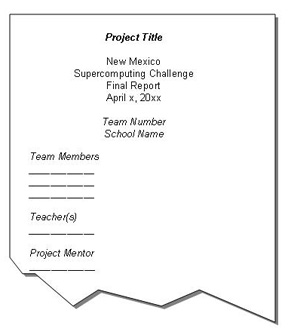 sample project cover page